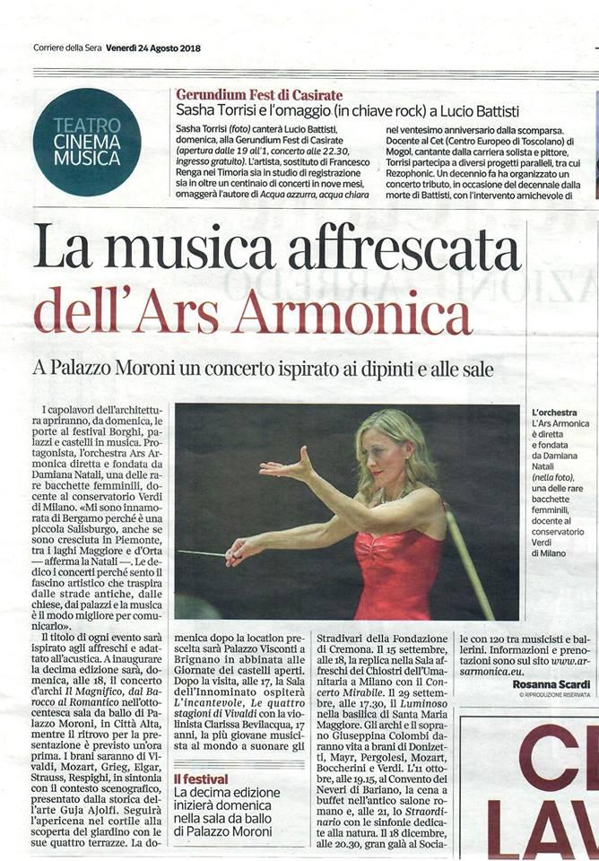 Articolo Corriere Inaugurazione Borghi 2018