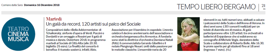 Articolo Corriere Ouverture 2018