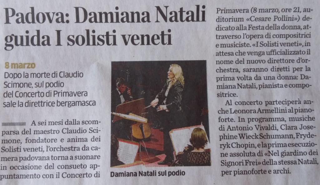 Articolo Eco Bergamo 8 marzo Padova 2019 bis