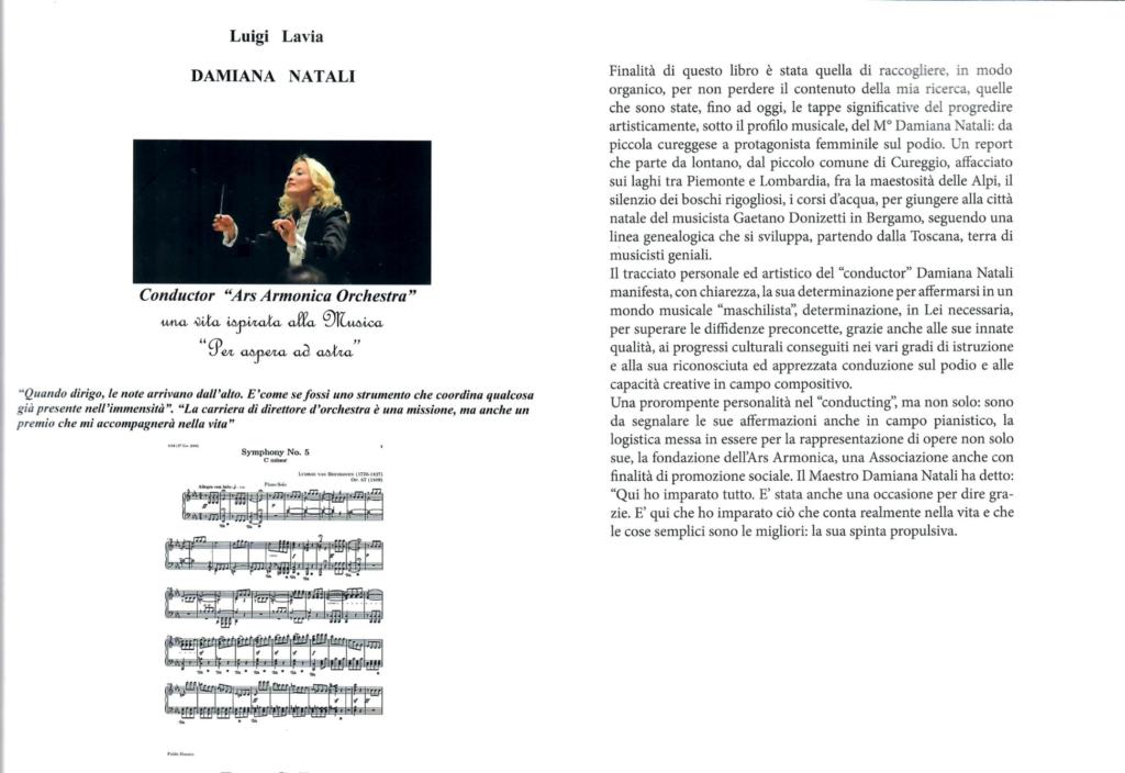 """Luigi Lavia, DAMIANA NATALI Conductor """"Ars Armonica Orchestra"""" Una vita ispirata alla musica"""