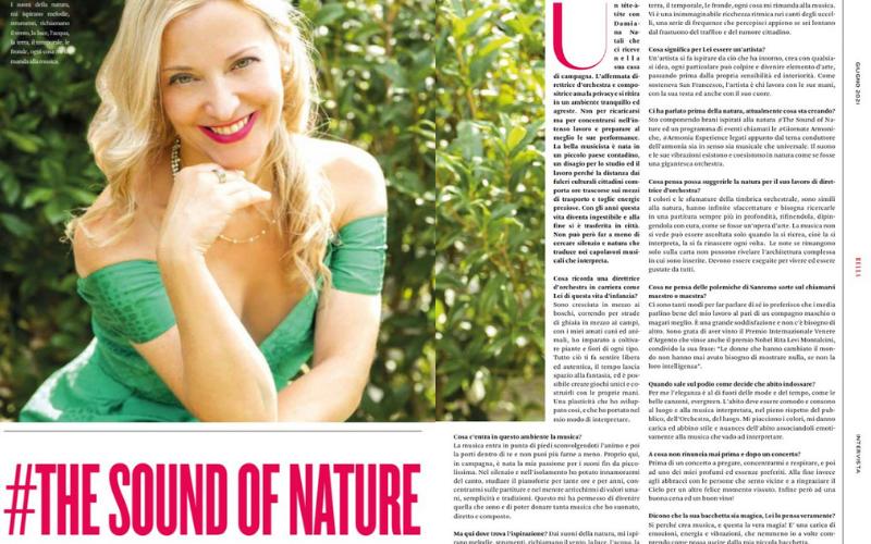 Intervista su Bella Magazine, intervista The Sound of Nature, Giugno 2021